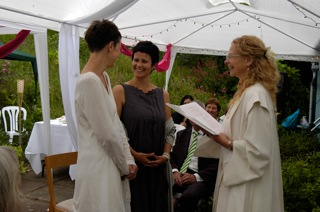 Gay marriage ceremony in Sussex near London