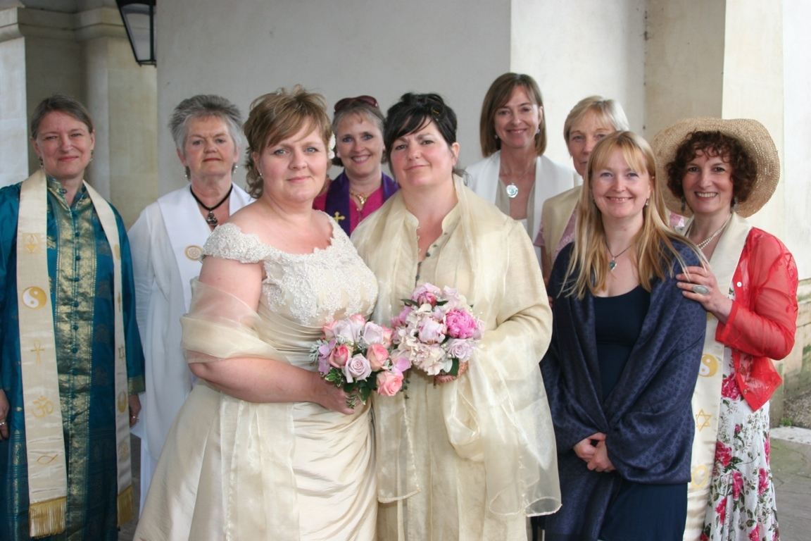Lesbian marriage with 8 ministers